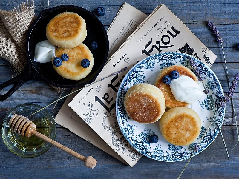 Пазл Собирать пазлы онлайн - Сырники на завтрак