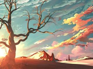 Собирать пазл Скала в пустыне онлайн