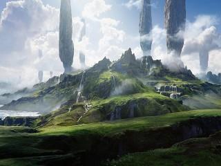 Собирать пазл Скалы и водопады онлайн