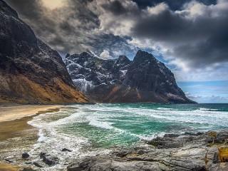 Собирать пазл Скалистые берега онлайн