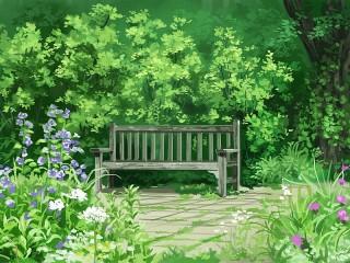 Собирать пазл Скамейка в парке онлайн