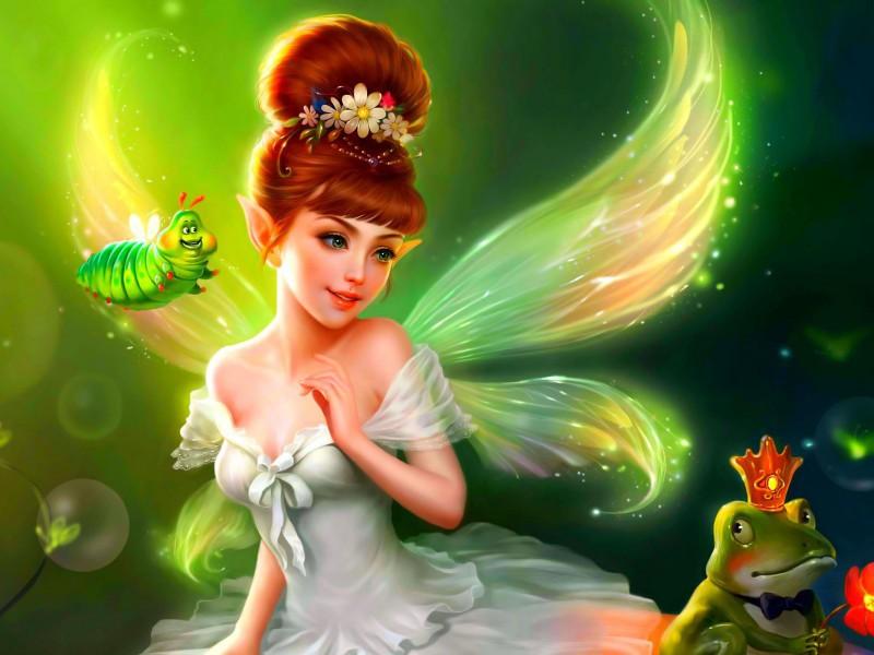 Пазл Собирать пазлы онлайн - Сказочная фея