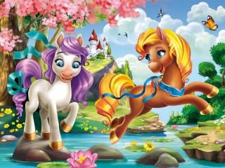 Собирать пазл Сказочные пони онлайн