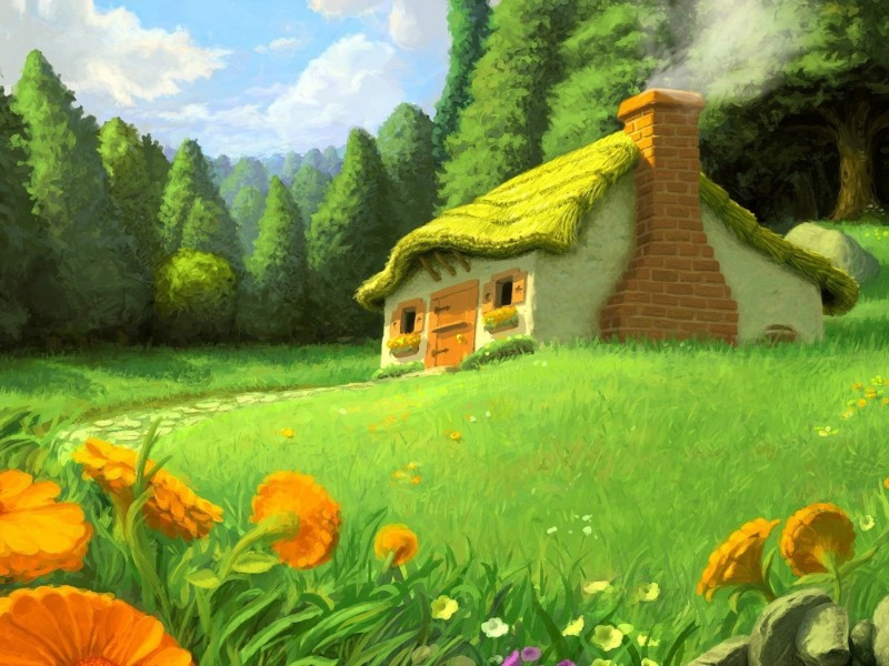 Пазл Собирать пазлы онлайн - Сказочный домик