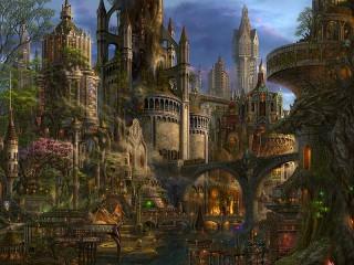 Собирать пазл Сказочный город онлайн