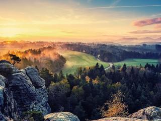Собирать пазл Сказочный пейзаж онлайн