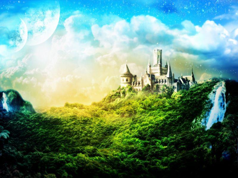 Пазл Собирать пазлы онлайн - Сказочный замок