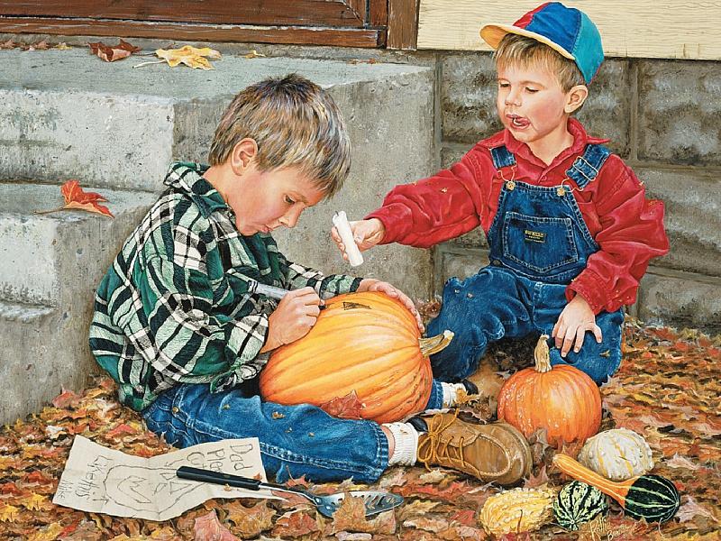 Пазл Собирать пазлы онлайн - Скоро Хэллоуин