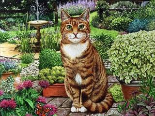 Собирать пазл Сквайр - уличный кот онлайн