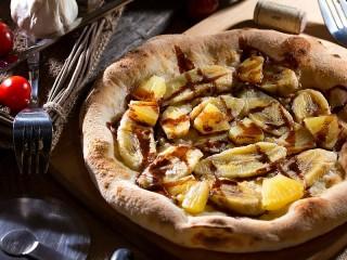 Собирать пазл Сладкая пицца онлайн