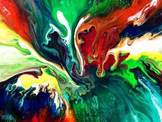 Собирать пазл Смешение красок онлайн