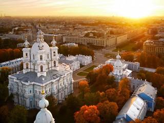 Собирать пазл Смольный монастырь онлайн