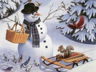 Собирать пазл Снеговик онлайн