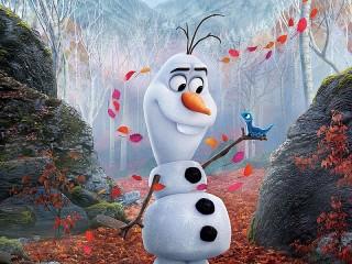 Собирать пазл Снеговик и питомец онлайн
