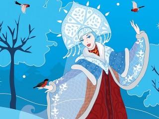 Собирать пазл Снегурочка онлайн