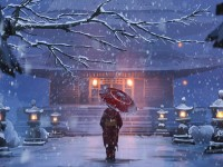 Собирать пазл Снежная ночь онлайн