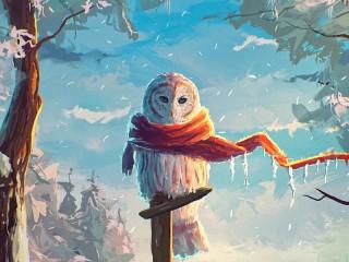 Собирать пазл Снежная сова онлайн