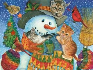 Собирать пазл Снежный друг онлайн