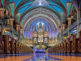 Собирать пазл Собор в Монреале онлайн