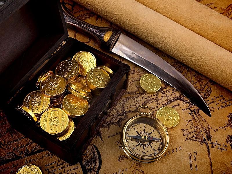 Пазл Собирать пазлы онлайн - Сокровище пирата