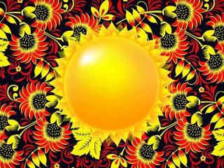 Собирать пазл Солнечный узор онлайн