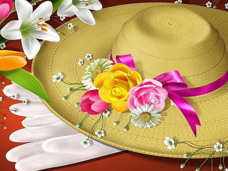 Открытки шляпы, день рождение