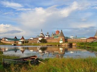Собирать пазл Соловецкий монастырь онлайн