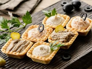 Собирать пазл Солёные тарталетки онлайн