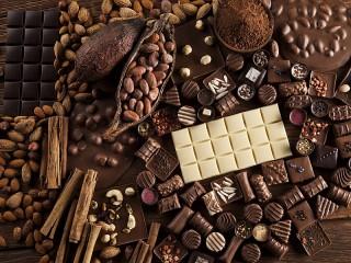 Собирать пазл Сорта шоколада онлайн
