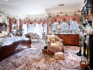 Собирать пазл Спальня с камином онлайн