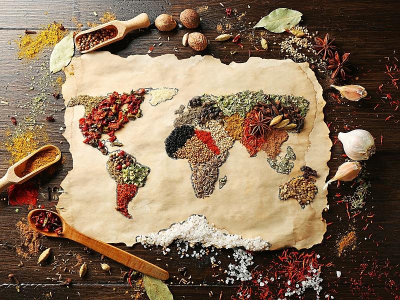 Пазл Собирать пазлы онлайн - Специи со всего мира