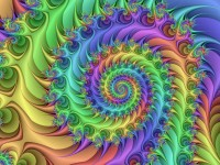 Собирать пазл Спираль-радуга онлайн