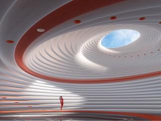 Собирать пазл Спиральный зал онлайн