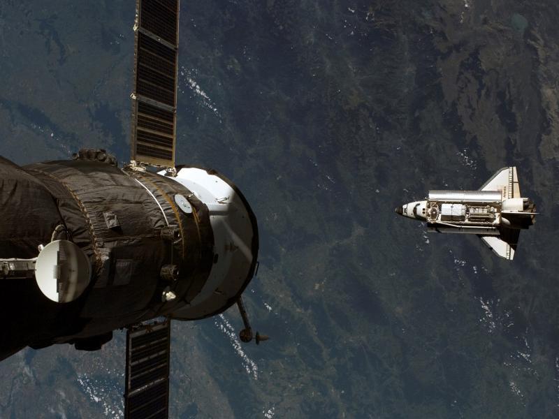 Пазл Собирать пазлы онлайн - Спутник и корабль
