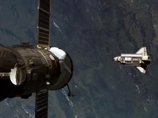 Собирать пазл Спутник и корабль онлайн