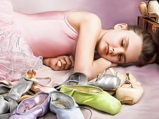 Собирать пазл Спящая балерина онлайн