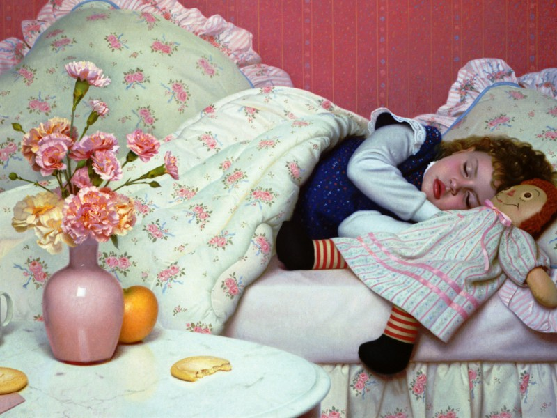 Пазл Собирать пазлы онлайн - Спящая девочка