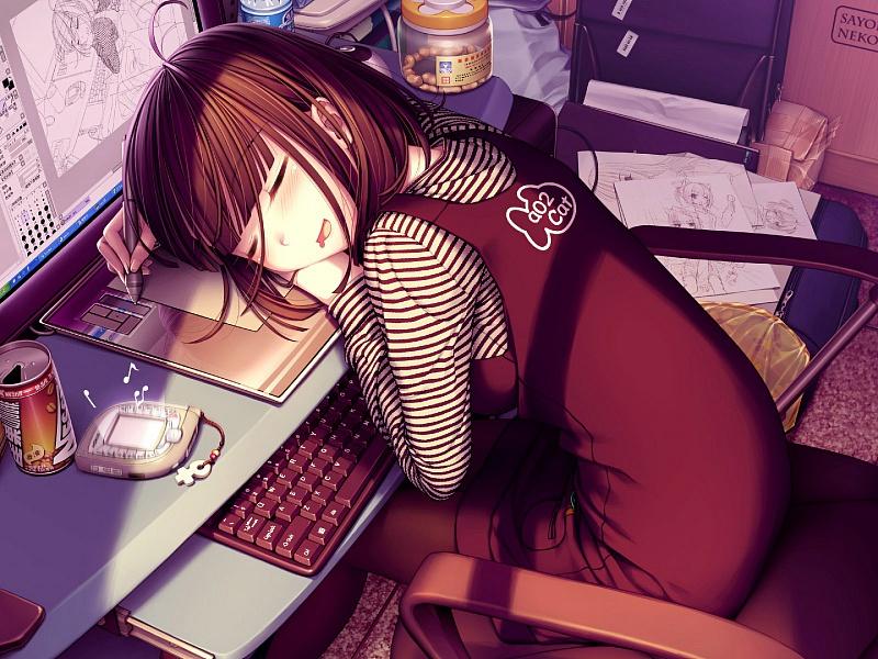 Пазл Собирать пазлы онлайн - Спящая художница