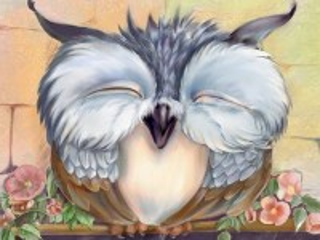 Собирать пазл Спящая сова онлайн