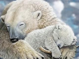 Собирать пазл Спящие медведи онлайн