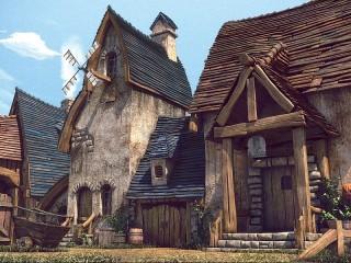 Собирать пазл Средневековый город онлайн