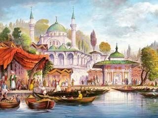Собирать пазл Стамбул  онлайн