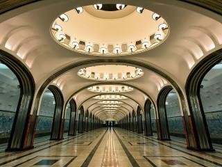 Собирать пазл Станция Маяковская онлайн