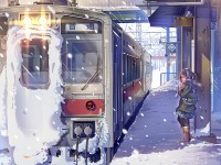 Собирать пазл Станция зимой онлайн