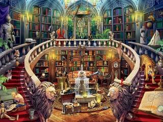 Собирать пазл Старая библиотека онлайн