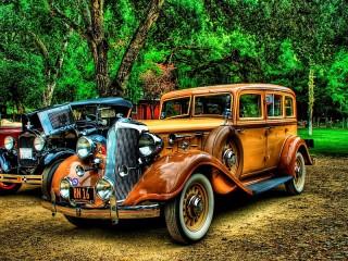 Собирать пазл Старые авто онлайн