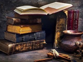 Собирать пазл Старые книги онлайн