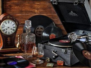Собирать пазл Старые пластинки онлайн