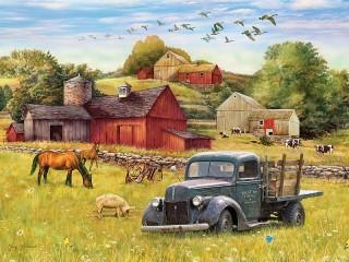 Собирать пазл Старый грузовик онлайн