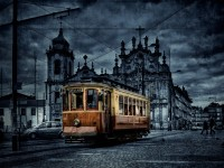 Собирать пазл Старый трамвай онлайн